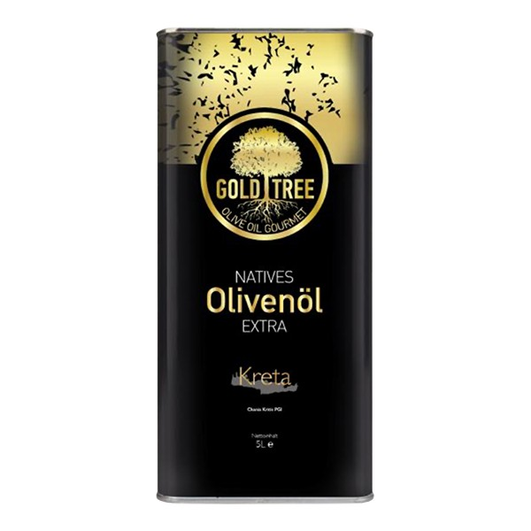 "Natives Olivenöl Extra aus Kreta ""GOLD-TREE"" 5000ml Metall-Kanister"