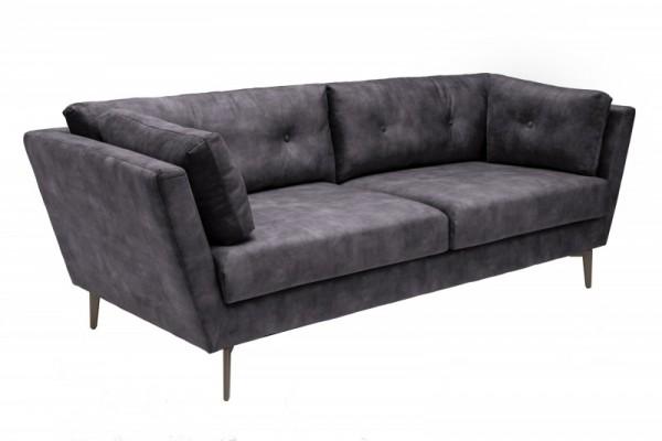 Sofa Marvelous 220cm grau Samt