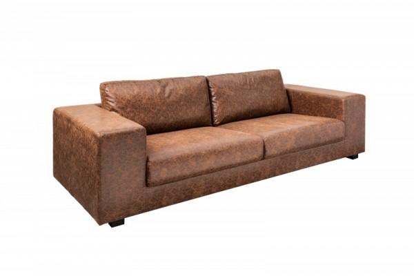 Sofa Lounger 220cm vintage braun