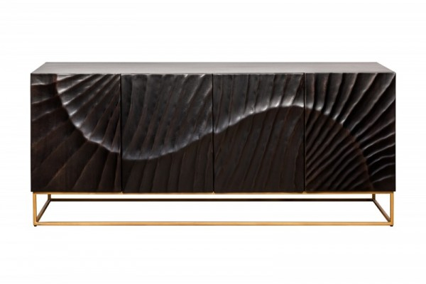 Sideboard Scorpion 177cm Mango schwarz 39232