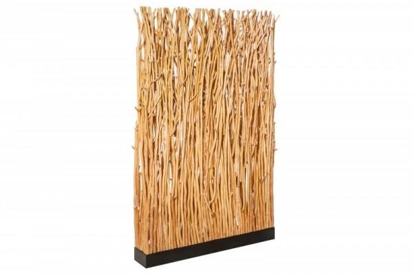 Stehleuchte Natural Paravent 180cm Longan-Holz natur 40505