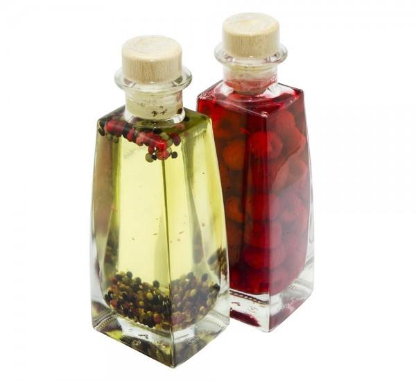Himbeer-Essig & Pfeffer-Öl Geschenkset 2x0,2l
