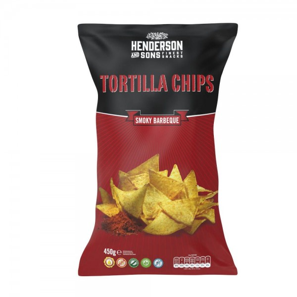 Henderson & Sons Tortilla Chips (Smoky Barbeque) 450g