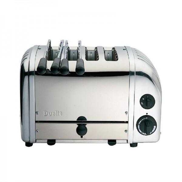 Dualit Kombi-Toaster 42174 Edelstahl 4 Schlitze
